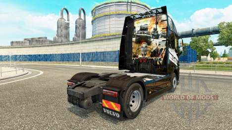 La peau de World of Tanks sur Volvo trucks pour Euro Truck Simulator 2