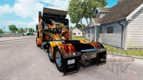 Les peaux de Big Bang sur le camion Peterbilt 38 pour American Truck Simulator