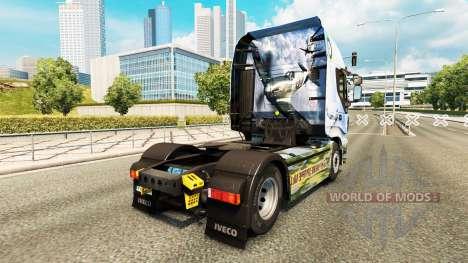 La peau du Supermarine Spitfire sur le camion Iv pour Euro Truck Simulator 2