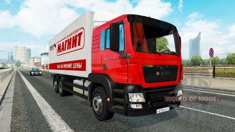 Une collection de camion de transport pour le tr pour Euro Truck Simulator 2