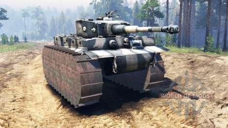 Panzerkampfwagen VI Tiger pour Spin Tires