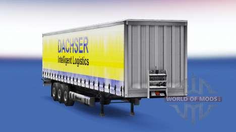 Dachser skin v1.1 auf dem Anhänger für Euro Truck Simulator 2