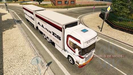 Haut A. A. van ES-für Zugmaschine Scania Tandem für Euro Truck Simulator 2