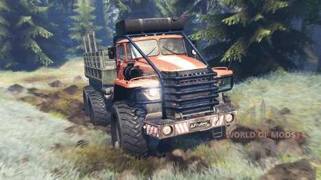 Ural-4320 Explorateur Polaire v13.0 pour Spin Tires