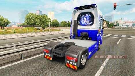 Haut den FC Schalke 04 auf einem Traktor MAN für Euro Truck Simulator 2