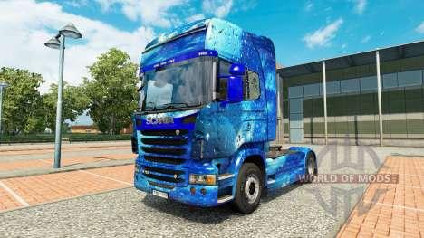 La peau de l'Eau sur tracteur Scania pour Euro Truck Simulator 2