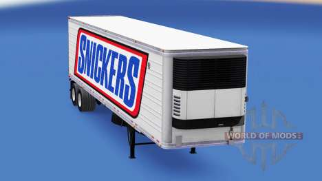 Haut Snickers auf dem Auflieger-Kühlschrank für American Truck Simulator