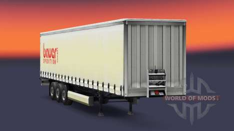 La peau Bauer Spedition GmbH sur la remorque pour Euro Truck Simulator 2