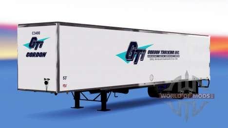 All-Metall-Auflieger Gordon für American Truck Simulator