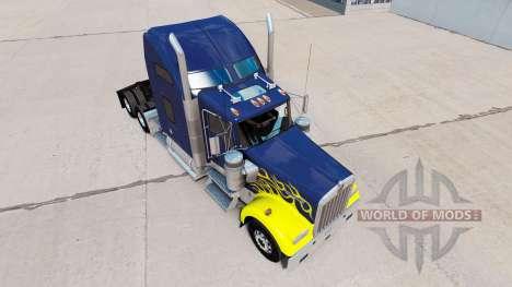 Haut auf Schwer LKW Traktor Kenworth W900 für American Truck Simulator