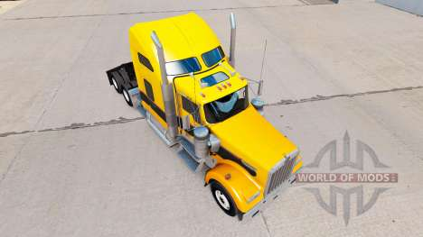 Haut Gold-Schwarz auf der LKW-Kenworth W900 für American Truck Simulator