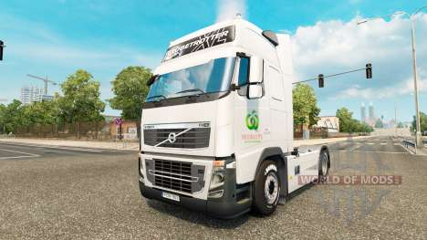La peau Woolworths pour les camions DAF, Scania  pour Euro Truck Simulator 2