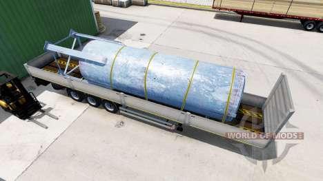 Flachbett-Auflieger Kogel mit verschiedenen Last für American Truck Simulator