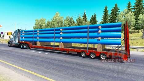 Low sweep mit einer Ladung von Rohren für American Truck Simulator