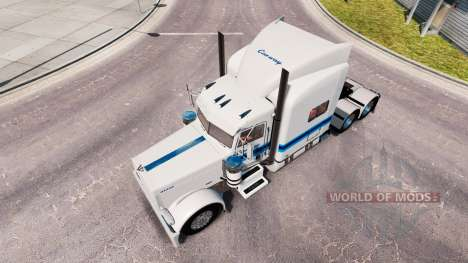 Skin Con-way Freight für den truck-Peterbilt 389 für American Truck Simulator