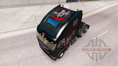 Skin Überarbeitet und die Schädel auf dem LKW Fr für American Truck Simulator