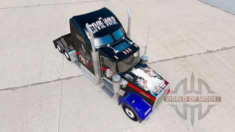 La peau de la Guerre Civile pour le camion Kenwo pour American Truck Simulator