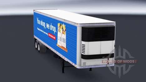 La peau de Tesco sur la semi-remorque-le réfrigé pour American Truck Simulator