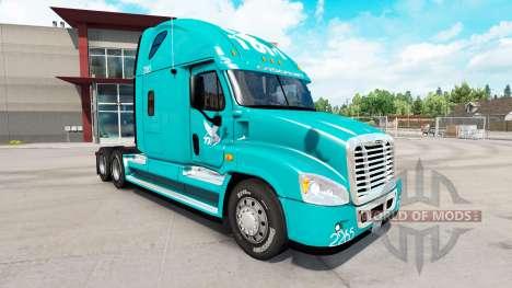 Haut-TUM auf Zugmaschine Freightliner Cascadia für American Truck Simulator
