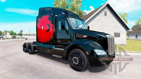 La peau Puissance turque sur le tracteur Peterbi pour American Truck Simulator