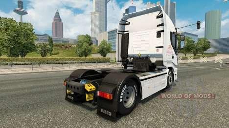 La Rose en Peluche AG de la peau pour Iveco trac pour Euro Truck Simulator 2