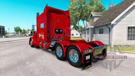 Skin 29 Budweiser Peterbilt tractor 389 für American Truck Simulator