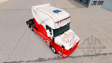 Haut Airbrash Polska für LKW Scania T für American Truck Simulator