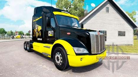 CAT skin für den truck Peterbilt für American Truck Simulator