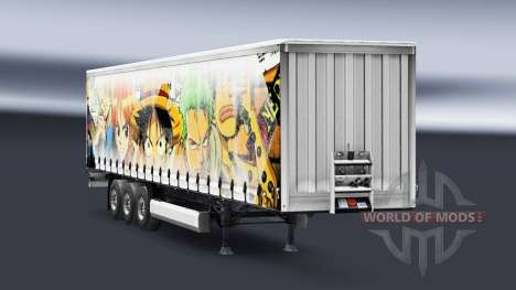La peau d'Une seule Pièce sur la remorque pour Euro Truck Simulator 2