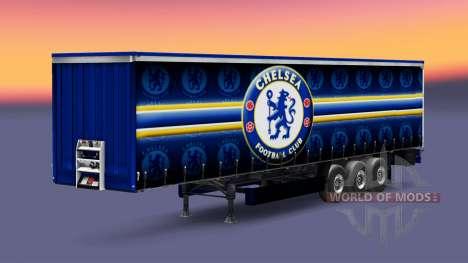 La peau de Chelsea FC v1.3 sur la remorque pour Euro Truck Simulator 2