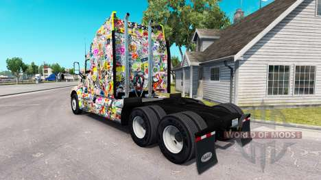 Sticker Bomb skin für den truck Peterbilt für American Truck Simulator