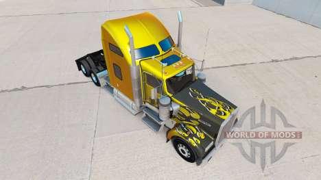 La peau de Carbone Personnalisé sur le camion Ke pour American Truck Simulator