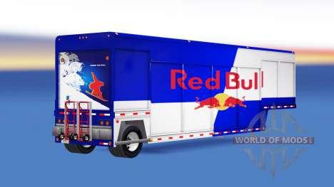 Semi-Tieflader für den Transport von Getränken für American Truck Simulator