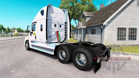La peau sur le J. B. Hunt tracteur Freightliner  pour American Truck Simulator