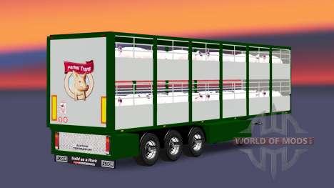 Auflieger-Rinder Träger Ferkel Trans v2.0 für Euro Truck Simulator 2