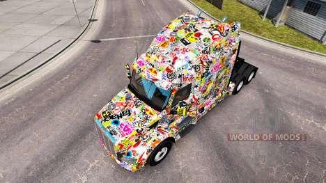 Autocollant Bombe de la peau pour le camion Pete pour American Truck Simulator