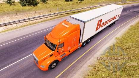 Bourassa skin für den truck Peterbilt für American Truck Simulator