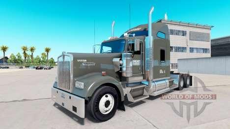 Haut auf die Ritter Kühl-LKW Kenworth W900 für American Truck Simulator