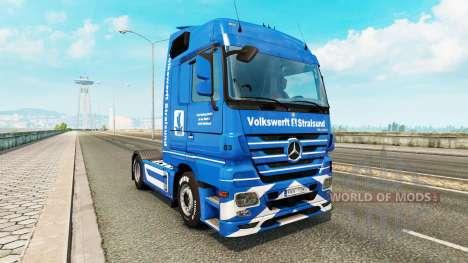 Volkswerft Stralsund skin for truck Mercedes-Ben pour Euro Truck Simulator 2