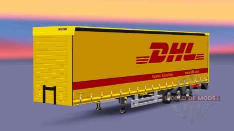Semitrailer Wielton DHL für Euro Truck Simulator 2