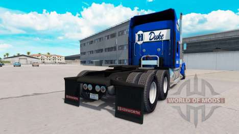 Скин Duke University Stolz на Kenworth W900 für American Truck Simulator