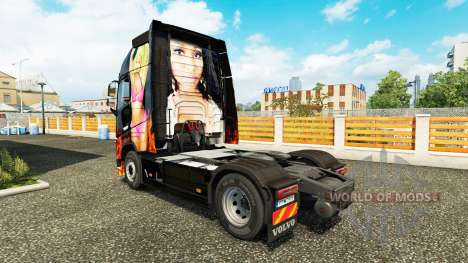 Nicki Minaj peau pour Volvo camion pour Euro Truck Simulator 2