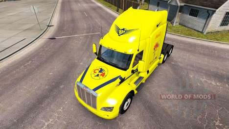 America-skin für den truck Peterbilt für American Truck Simulator