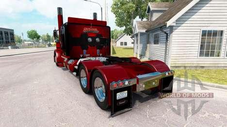 Deadpool de la peau pour le camion Peterbilt 389 pour American Truck Simulator