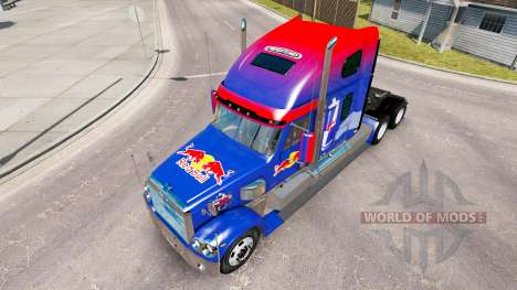 Red Bull de la peau pour le Freightliner Coronad pour American Truck Simulator