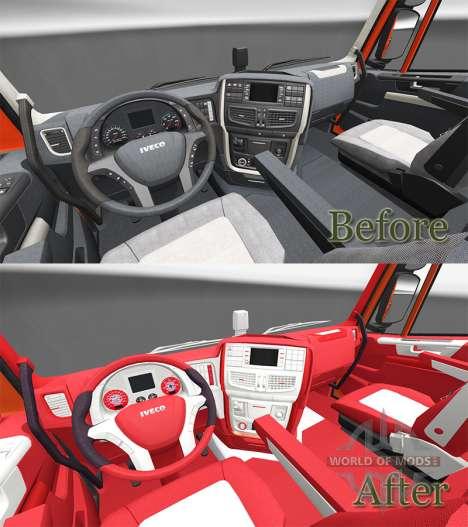 Le Bayern intérieur pour Iveco Hi-Way pour Euro Truck Simulator 2