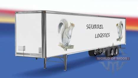 Das Eichhörnchen Logistik-skin für den Anhänger für American Truck Simulator