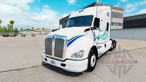 Haut John Christner Trucking in die Kenworth-Zug für American Truck Simulator
