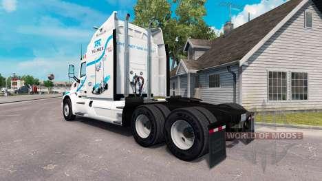 Telmex de la peau pour le camion Peterbilt pour American Truck Simulator