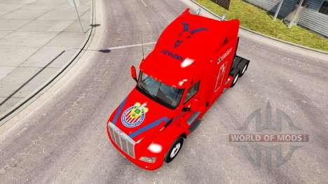 Chivas skin für den truck Peterbilt für American Truck Simulator